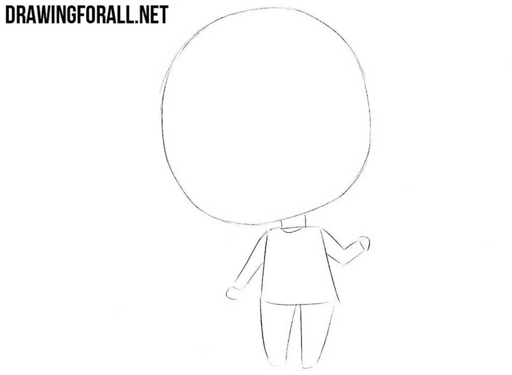 How to draw chibi Yuno Gasai easy