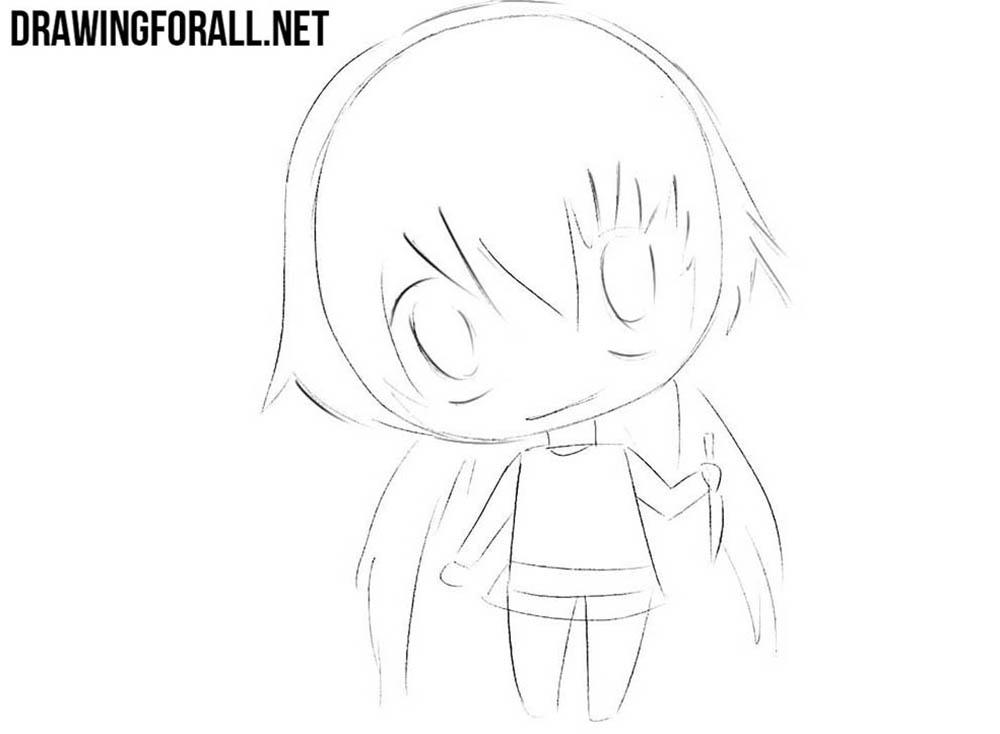 How to draw Yuno Gasai for kids