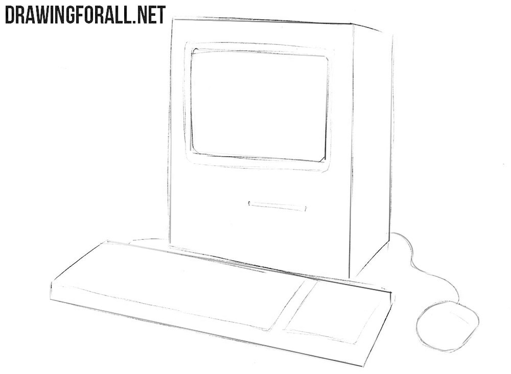 How to draw a Macintosh step by step