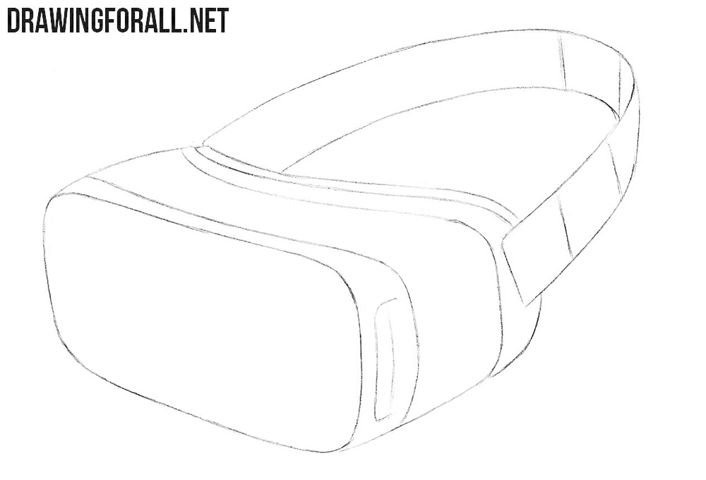 How to draw a virtual reality headset easy