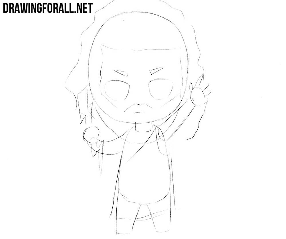 How to draw chibi Greek
