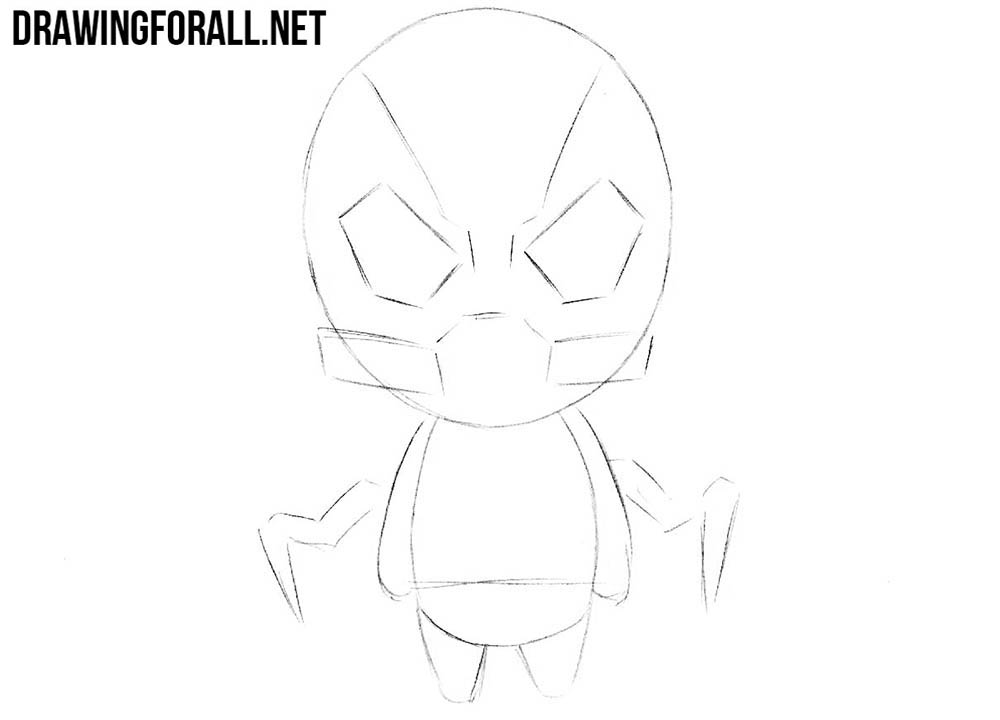 How to draw chibi Yellowjacket from Ant Man
