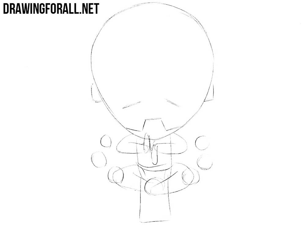 How to draw chibi Zenyatta from Overwatch