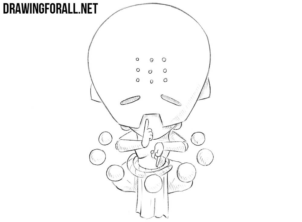 How to draw chibi Zenyatta