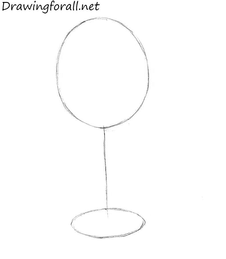 wineglass drawing
