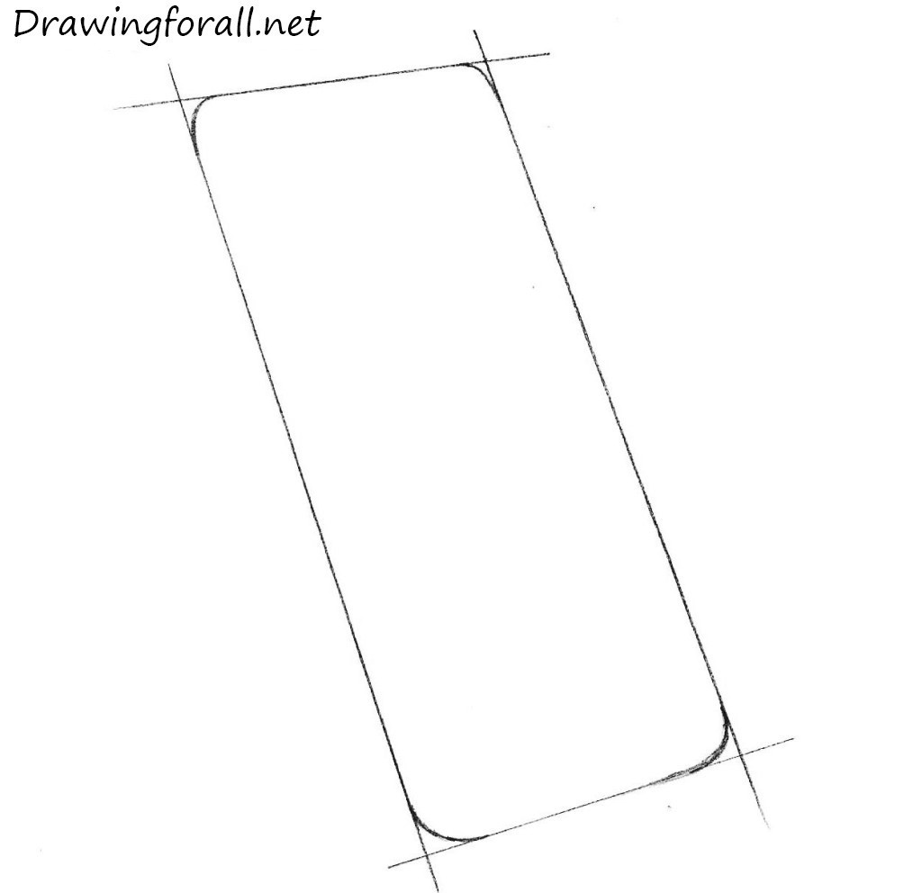 how to draw an iphone step by step