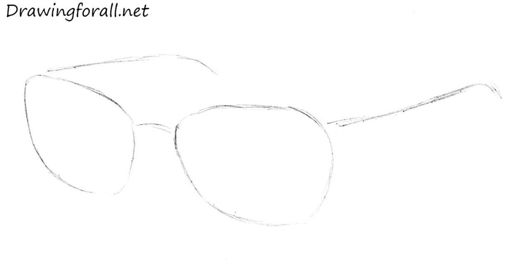 how to draw glasses step by step