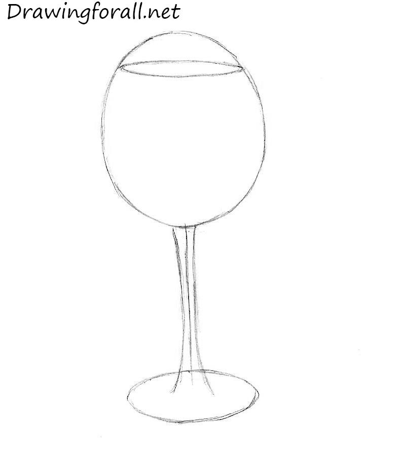 wine glass drawing pencil