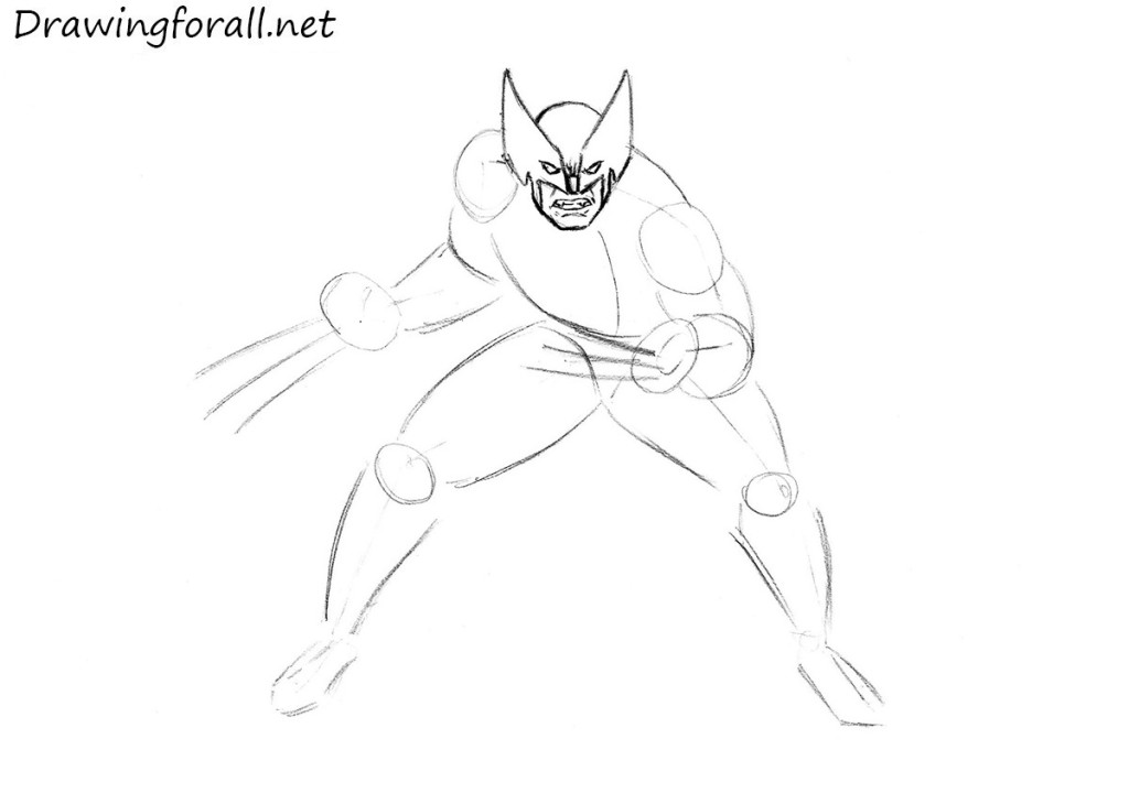 wolverine pencile drawing