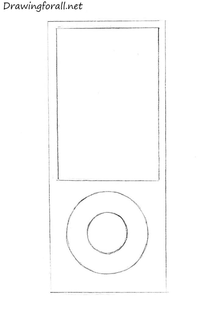 ipod pencil drawing