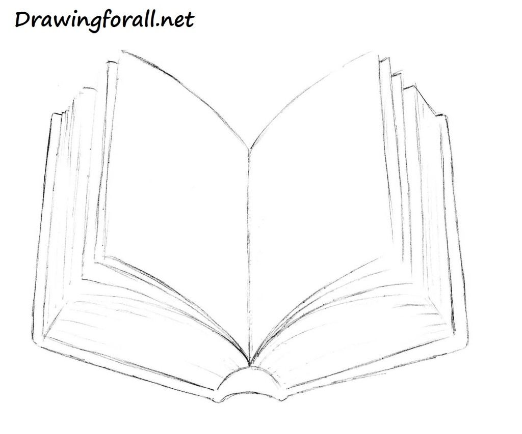 book pencil drawing