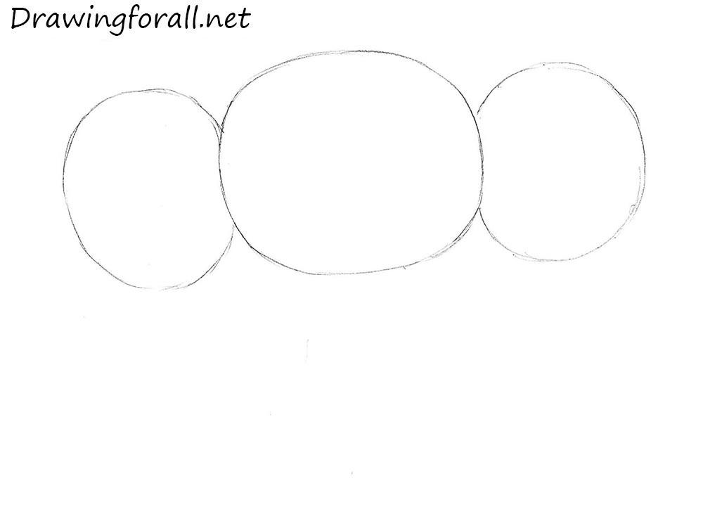 how to draw cheburashka
