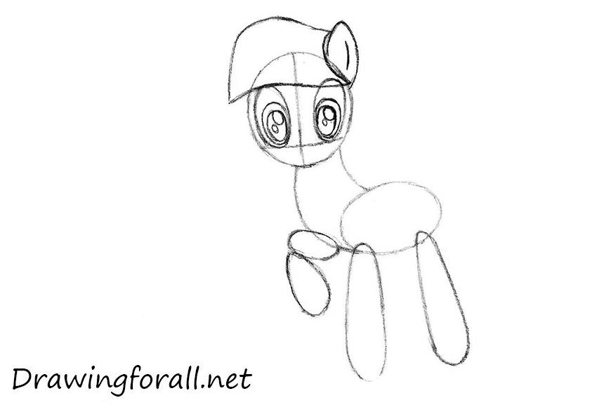 how to draw pony sparkle