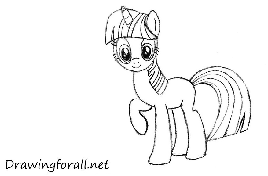 Twilight Sparkle pencile drawing