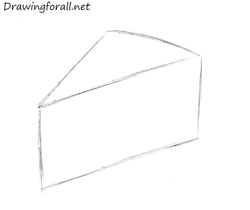 How to draw cheese step by step