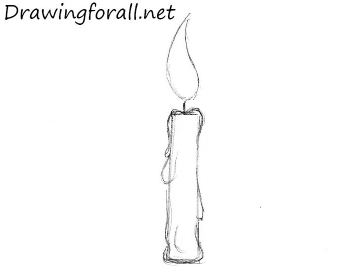 2 how to draw a candle step by step