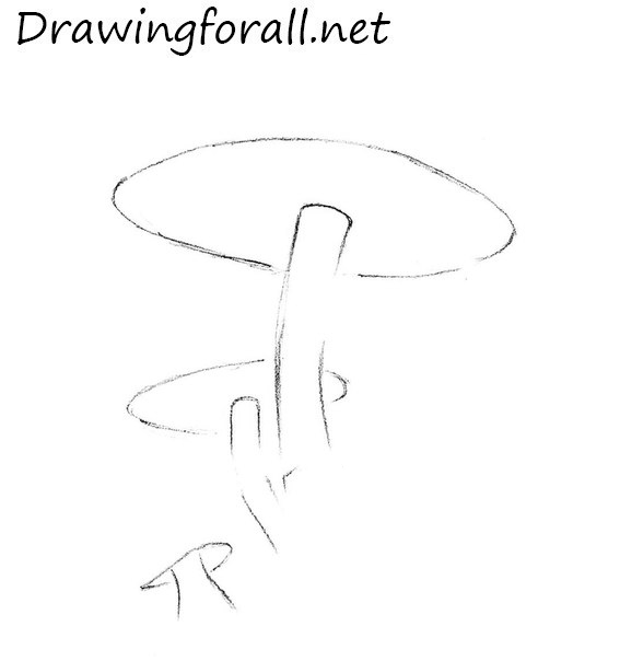 how to draw a mushroom step by step