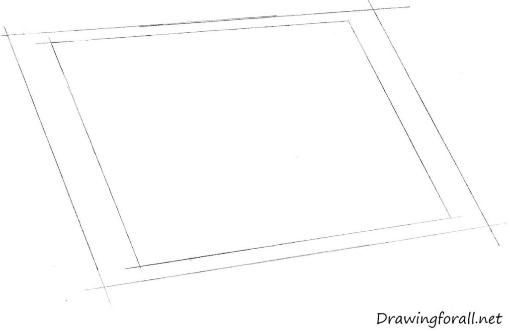 how to draw ipad step by step