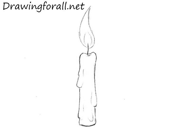candle pencile drawing