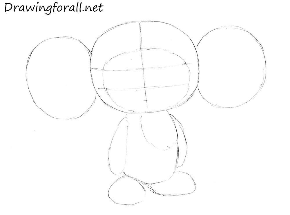 how to draw cheburashka step by step