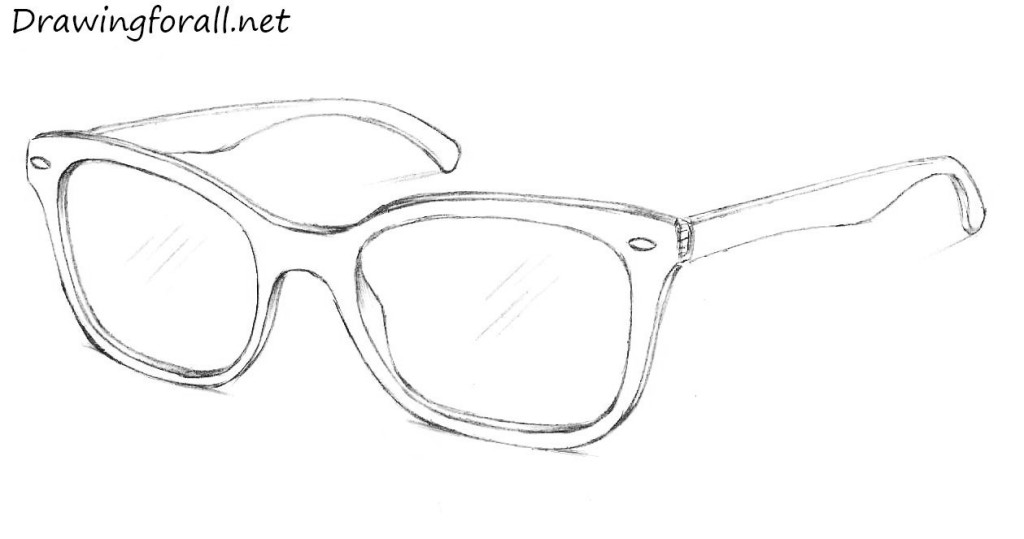 how to draw ray ban glasses