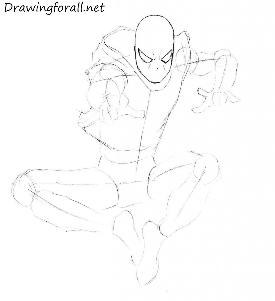 How to Draw Scarlet Spider step by step