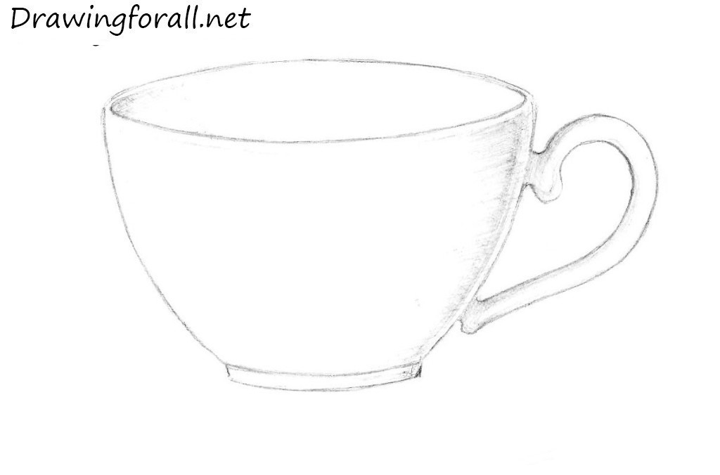 how to draw a cup of tea step by step