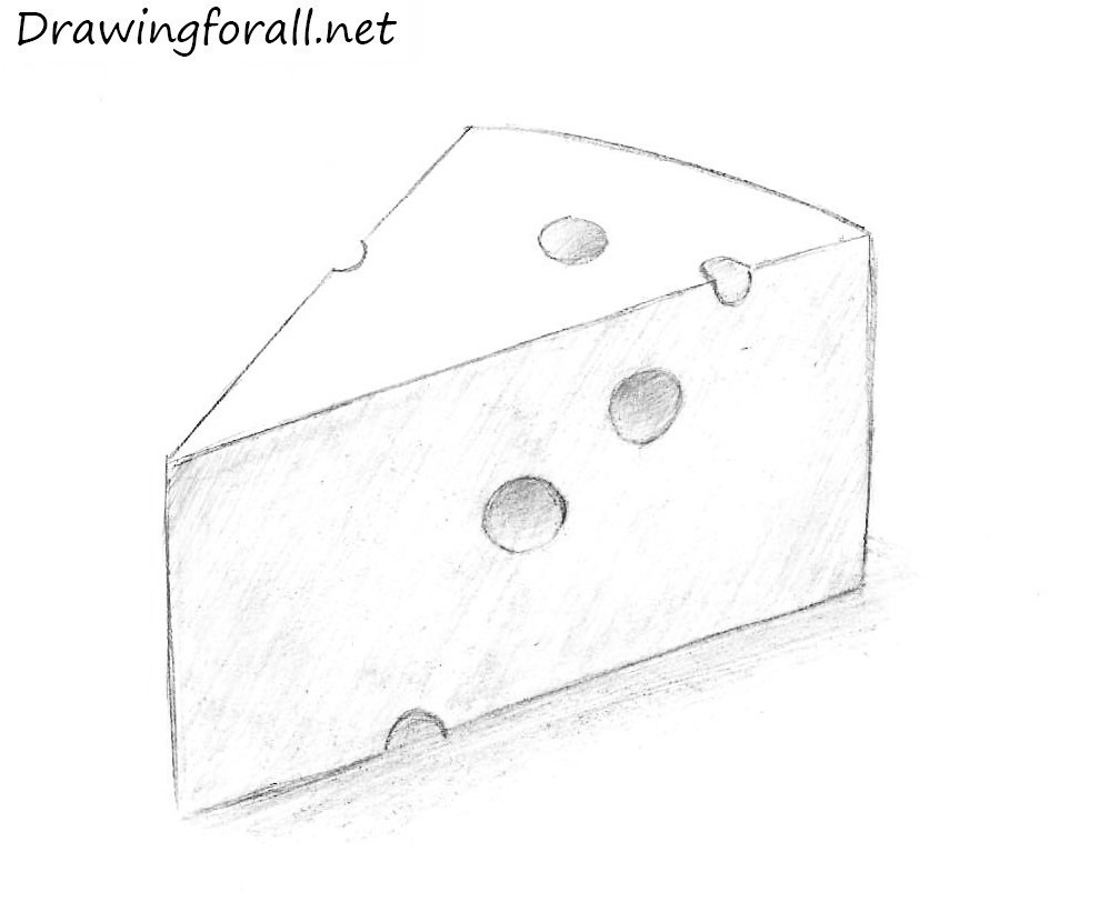cheese pencile drawing