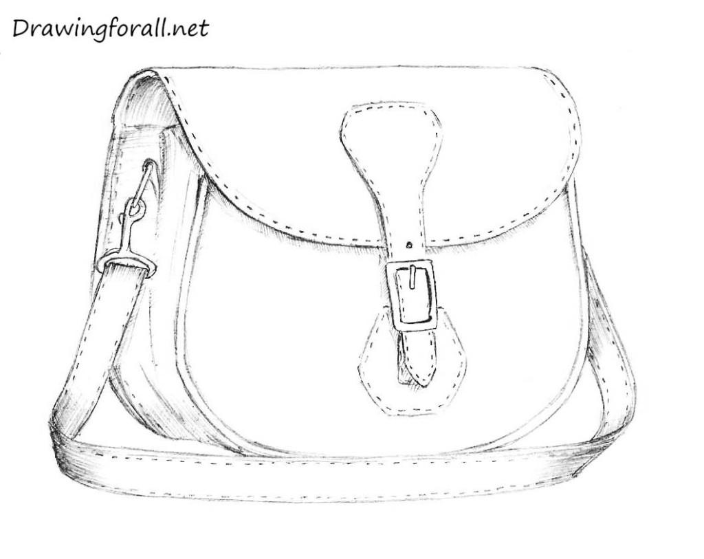 bag pencil drawing