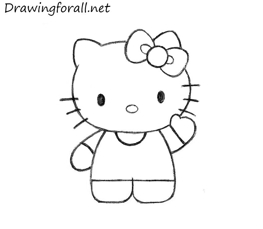 This is a picture of Insane Drawing Of Hello Kitty