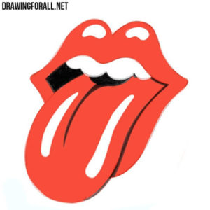 How to Draw The Rolling Stones Logo