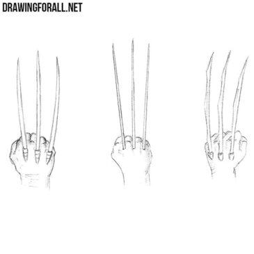 How to Draw Wolverine Claws