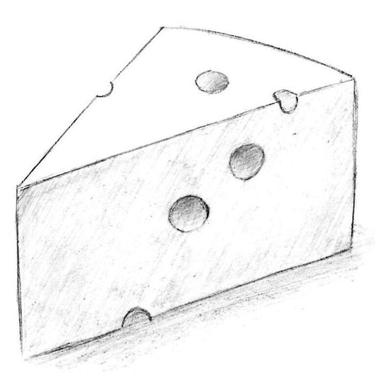 How to Draw a Cheese