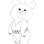 How to Draw The Olympic Mishka