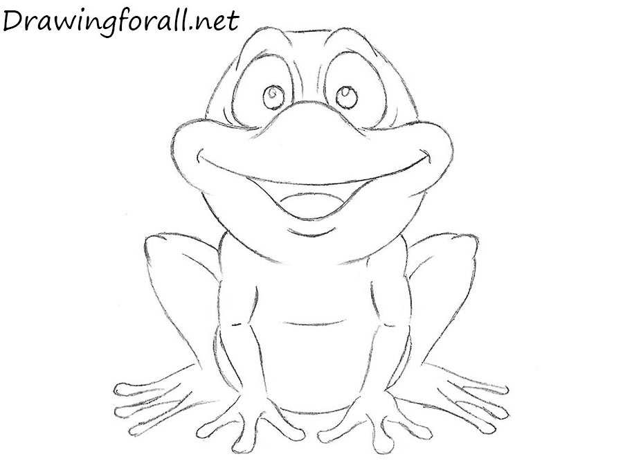 This is a photo of Priceless Frog Drawing For Kids