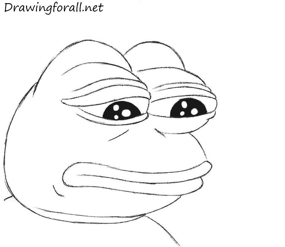 How to Draw Sad Frog | Drawingforall.net