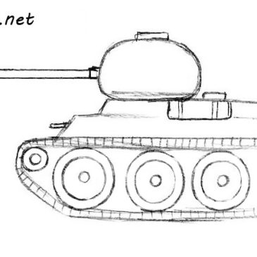 How to Draw a Tank for Beginners