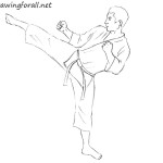 How to Draw a Karate Fighter