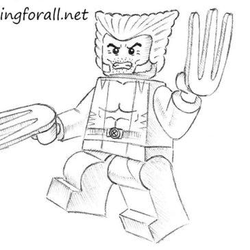 How to Draw Lego Wolverine