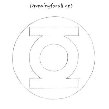 How to draw Green Lantern logo
