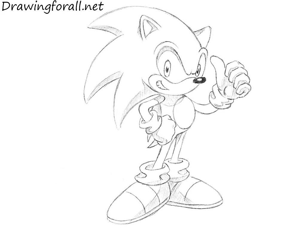 How To Draw Sonic Cartoon