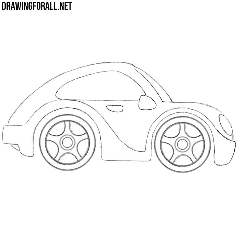 How To Draw A Car For Kids Drawingforall Net