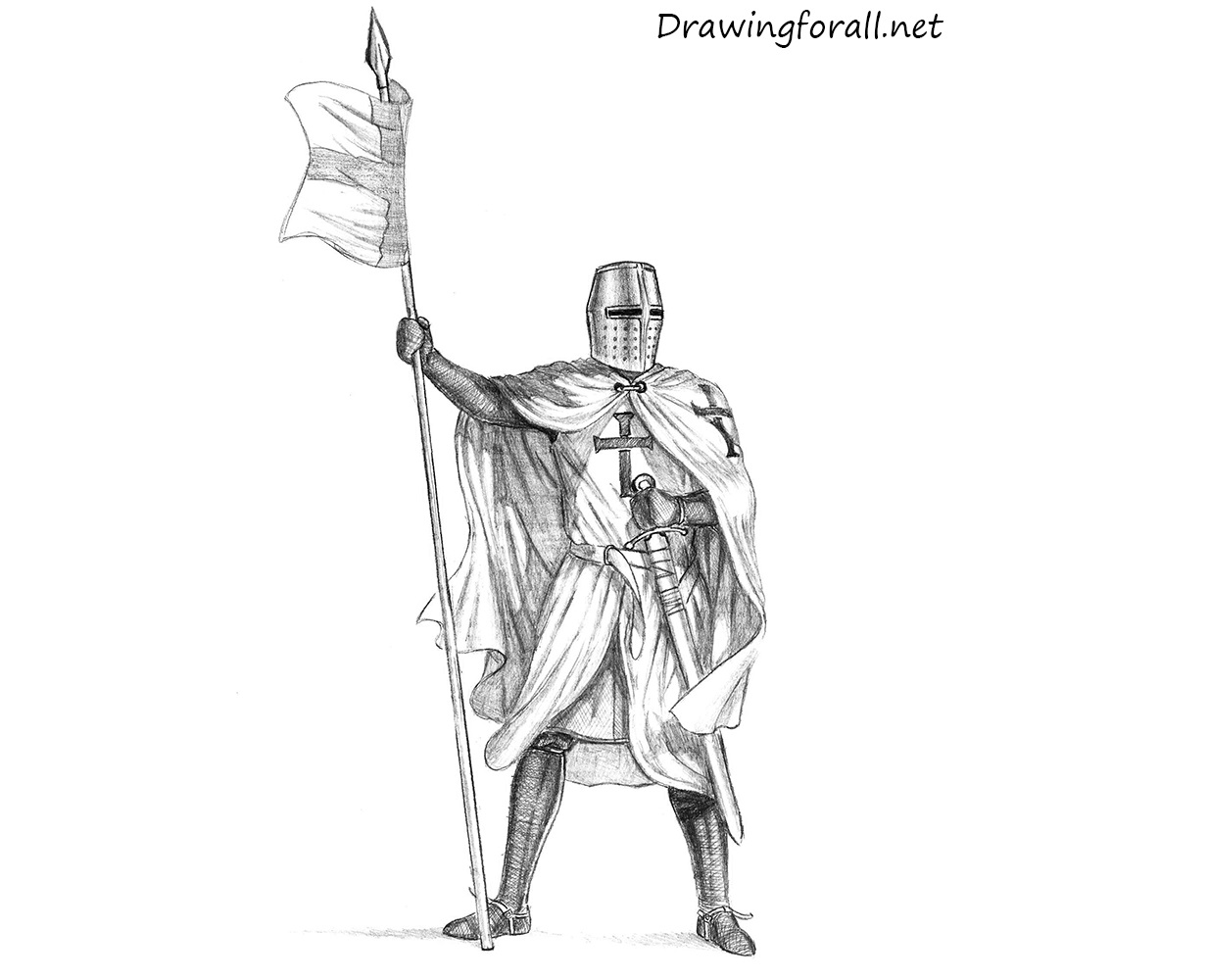 How To Draw A Knight Drawingforall Net
