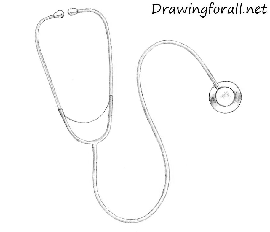 How to Draw a Stethoscope
