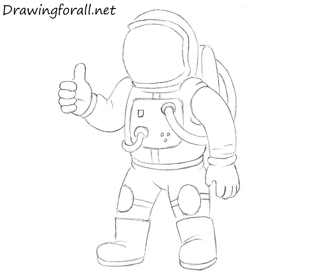 Sketch Images For Drawing: How To Draw An Astronaut For Kids