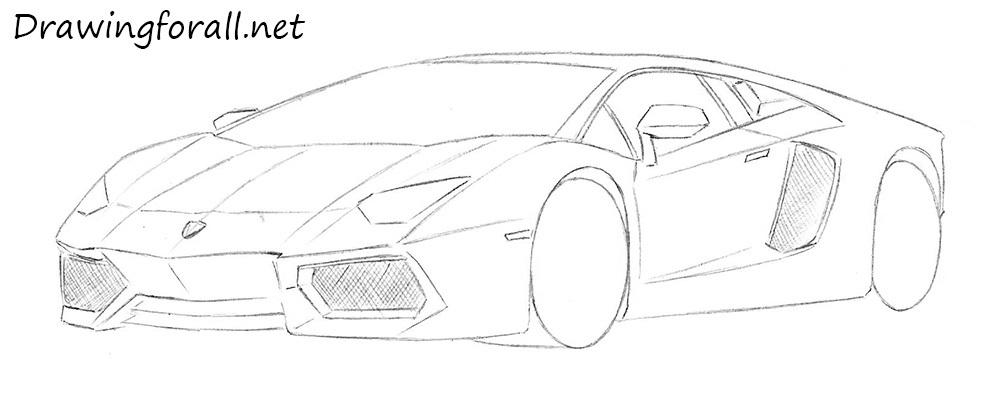 how to draw a sportcar