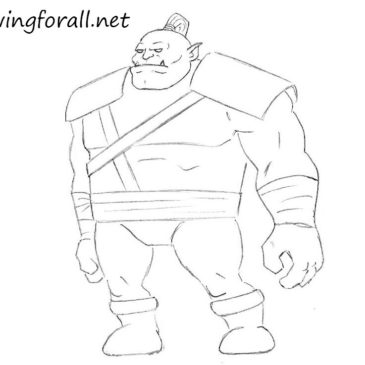 How to Draw a Cartoon Orc