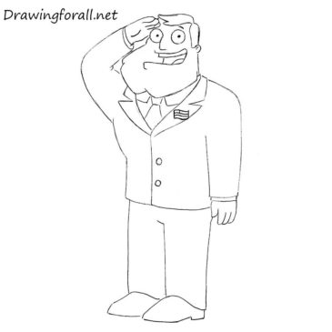 How to Draw Stan Smith from American Dad