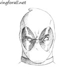 How to Draw Deadpool Head