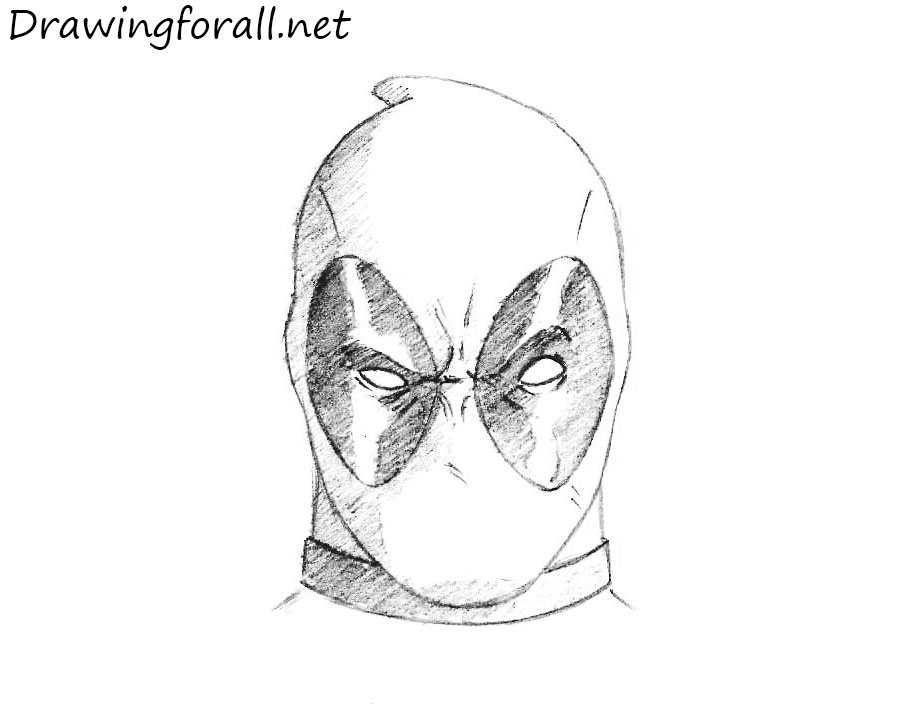 How To Draw Deadpool Head Drawingforall Net